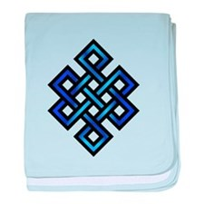 Endless Knot - Blue in Black baby blanket