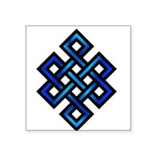 Endless Knot - Blue in Black Sticker
