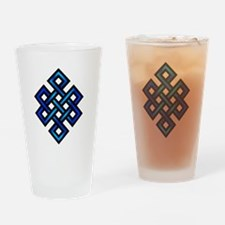 Endless Knot - Blue in Black Drinking Glass