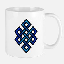 Endless Knot - Blue in Black Mug