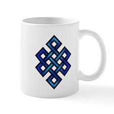Endless Knot - Blue in Black Mug