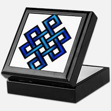 Endless Knot - Blue in Black Keepsake Box