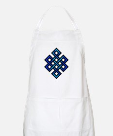 Endless Knot - Blue in Black Apron