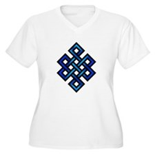 Endless Knot - Blue in Black Plus Size T-Shirt