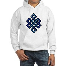 Endless Knot - Blue in Black Hoodie