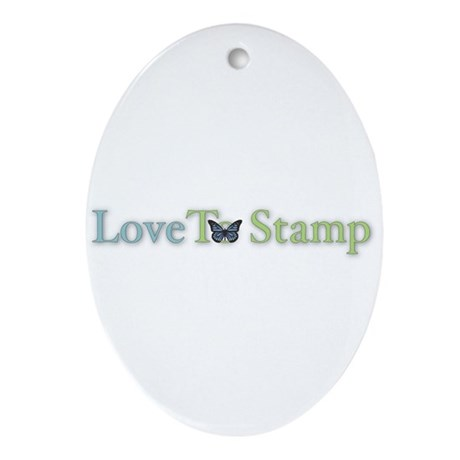 Love to Stamp Oval Ornament