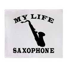My Life Saxophone Throw Blanket