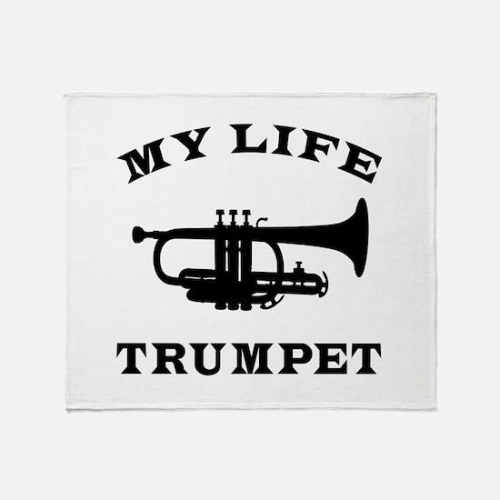 My Life Trumpet Throw Blanket