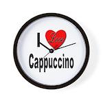 I Love Cappuccino Wall Clock