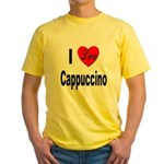 I Love Cappuccino (Front) Yellow T-Shirt