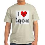 I Love Cappuccino (Front) Ash Grey T-Shirt