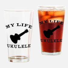 My Life Ukulele Drinking Glass