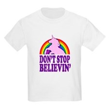 Dont Stop Believin in Unicorns (Distressed) T-Shir