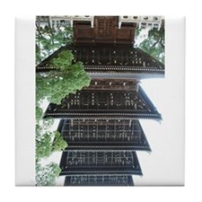 Wooden buddhist tower (stupa) upside-down Tile Coa