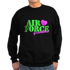 AF Grandma Lime Green Pink Heart Sweatshirt