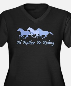 APHA rather be riding a horse Women's Plus Size V-