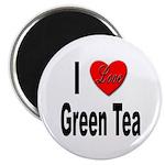 I Love Green Tea Magnet
