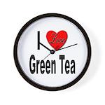 I Love Green Tea Wall Clock