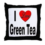 I Love Green Tea Throw Pillow