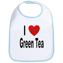 I Love Green Tea Bib