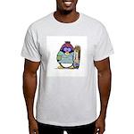 SnowBoard Penguin Ash Grey T-Shirt