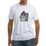 SnowBoard Penguin Fitted T-Shirt