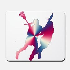 Lacrosse Red White and Blue Mousepad