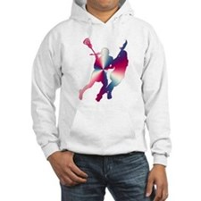 Lacrosse Red White and Blue Hoodie