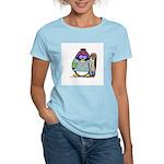 SnowBoard Penguin Women's Pink T-Shirt