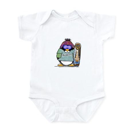 SnowBoard Penguin Infant Bodysuit