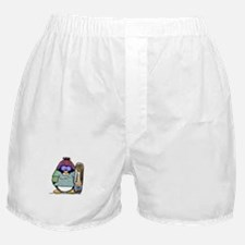 SnowBoard Penguin Boxer Shorts