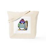 SnowBoard Penguin Tote Bag