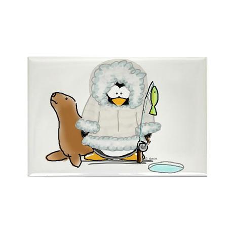 Eskimo Penguin Rectangle Magnet (10 pack)
