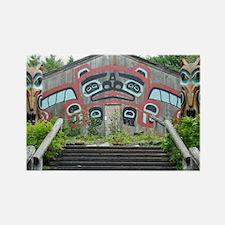 Clan House, Ketchikan, Alaska Rectangle Magnet