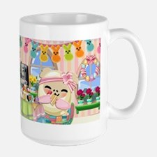 Easter Bunny Big Treats Large Mug