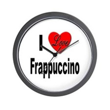 I Love Frappaccino Wall Clock