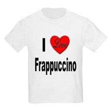 I Love Frappaccino (Front) Kids T-Shirt