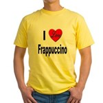 I Love Frappaccino (Front) Yellow T-Shirt