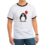 Red Balloon Penguin Ringer T