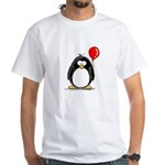 Red Balloon Penguin White T-Shirt