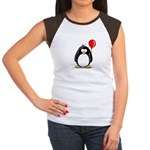 Red Balloon Penguin Women's Cap Sleeve T-Shirt