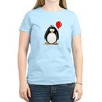 Red Balloon Penguin Women's Pink T-Shirt