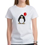 Red Balloon Penguin Women's T-Shirt