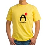 Red Balloon Penguin Yellow T-Shirt