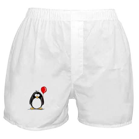Red Balloon Penguin Boxer Shorts