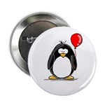 Red Balloon Penguin Button