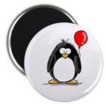 Red Balloon Penguin Magnet