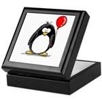 Red Balloon Penguin Keepsake Box