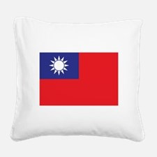 Taiwan1 Square Canvas Pillow