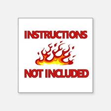 INSTRUCTIONS Sticker